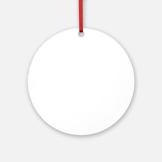 Captain Anchor White Round Ornament