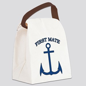 First Mate Sailor Boating Anchor  Canvas Lunch Bag
