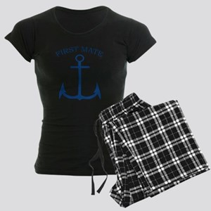 First Mate Sailor Boating An Women's Dark Pajamas