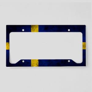 Swedish Flag License Plate Holder