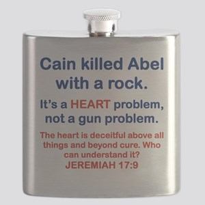 CAIN KILLED ABEL WITH A ROCK Flask