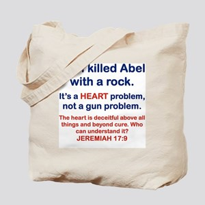 CAIN KILLED ABEL WITH A ROCK Tote Bag