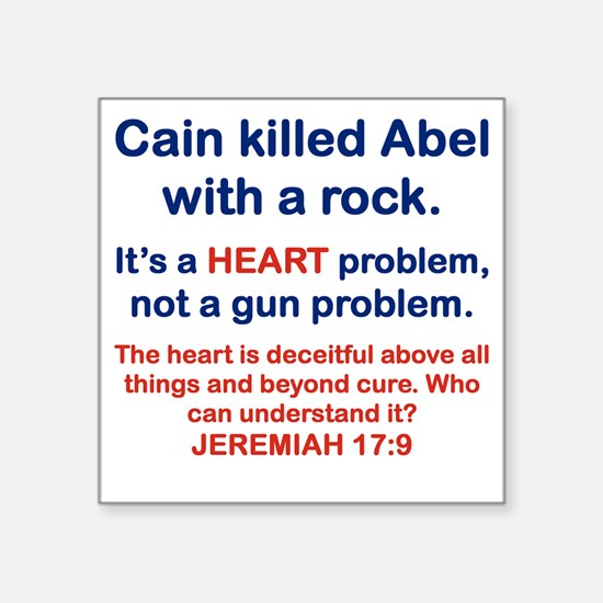 """CAIN KILLED ABEL WITH A ROC Square Sticker 3"""" x 3"""""""