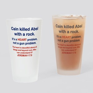 CAIN KILLED ABEL WITH A ROCK Drinking Glass