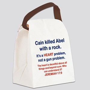 CAIN KILLED ABEL WITH A ROCK Canvas Lunch Bag