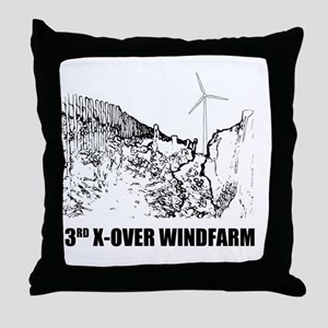 3rd crossover windfarm Throw Pillow
