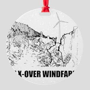 3rd crossover windfarm Round Ornament