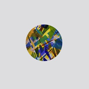 The City I, Abstract Blue Yellow Light Mini Button