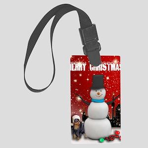 English Toy Spaniel Christmas Large Luggage Tag