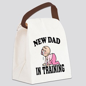 New Dad In Training (Girl) Canvas Lunch Bag