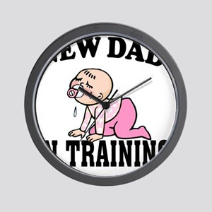 New Dad In Training (Girl) Wall Clock