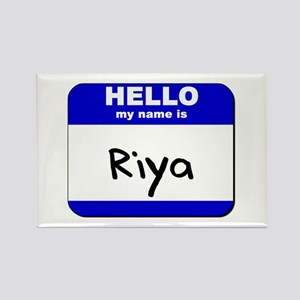 hello my name is riya Rectangle Magnet