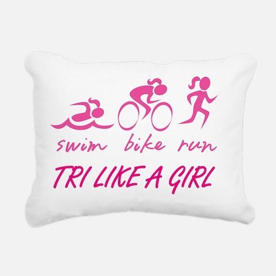 TRI LIKE A GIRL Rectangular Canvas Pillow