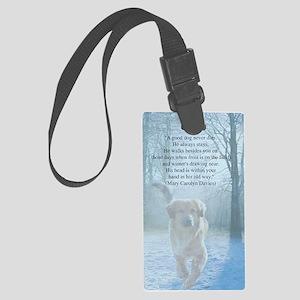 pet loss sympathy card Large Luggage Tag