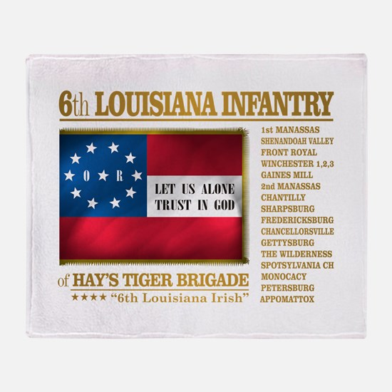 6th Louisiana Infantry (BH2) Throw Blanket