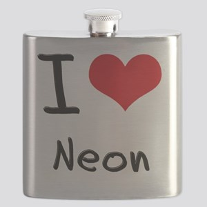 I Love Neon Flask