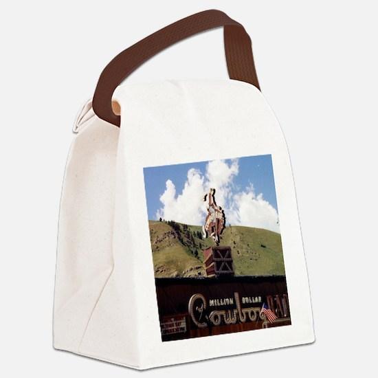 Million Dollar Cowboy Bar Canvas Lunch Bag