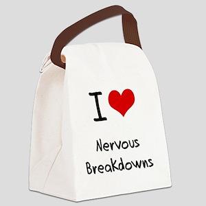 I Love Nervous Breakdowns Canvas Lunch Bag