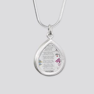 Police Officer Wife Silver Teardrop Necklace