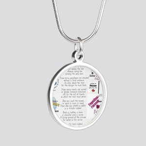 Police Officer Wife Silver Round Necklace