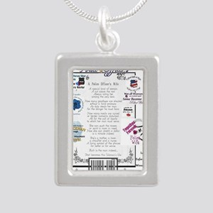 Police Officer Wife Silver Portrait Necklace