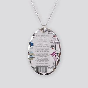 Police Officer Wife Necklace Oval Charm