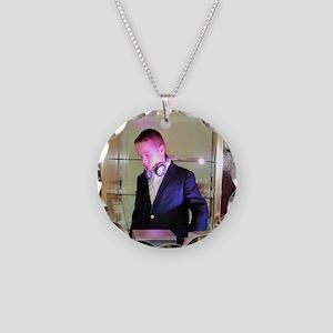 DJ A Necklace Circle Charm