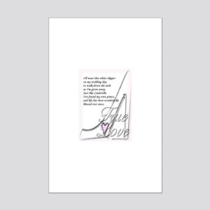 White Slippers Bridal Mini Poster Print