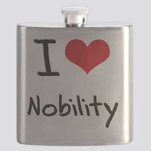 I Love Nobility Flask