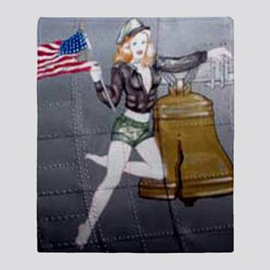 1 Military Pin Ups Throw Blanket