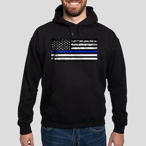 Horizontal style police flag Sweatshirt