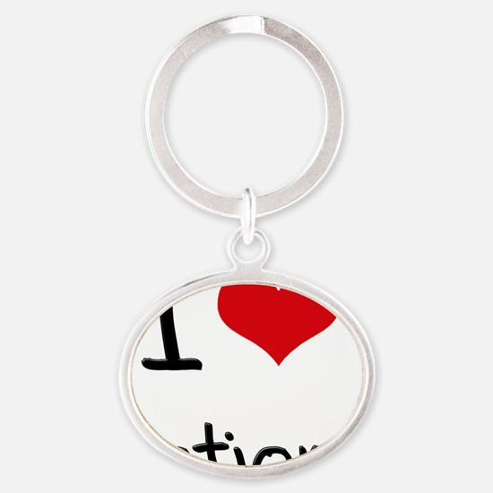 I Love Notions Oval Keychain