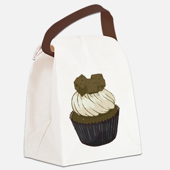 Chocolate Chunk Cupcake Canvas Lunch Bag