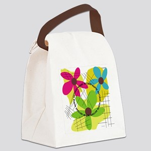 Retired Nurse Yellow flowers 2 Pi Canvas Lunch Bag