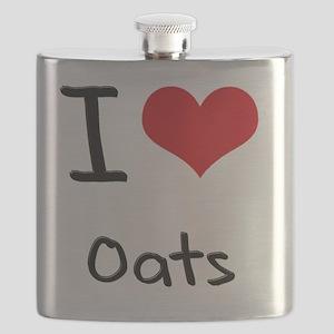 I Love Oats Flask