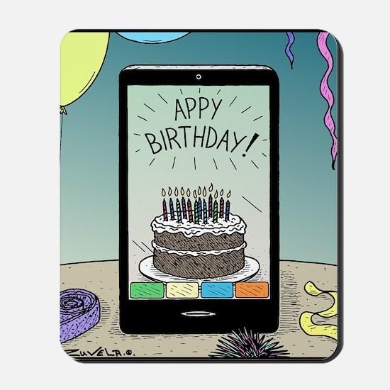 Appy Birthday! Mousepad