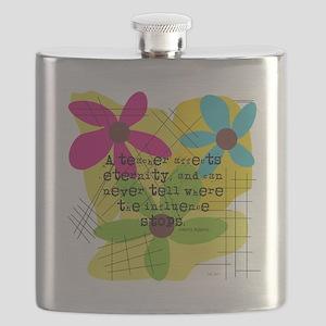 A teacher affects eternity PILLOW Flask