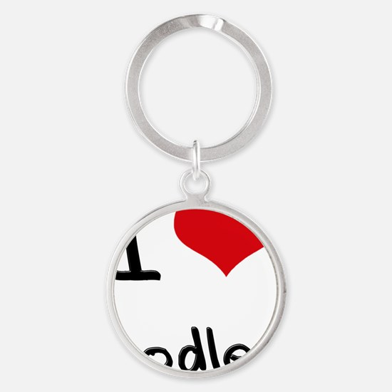 I Love Oodles Round Keychain