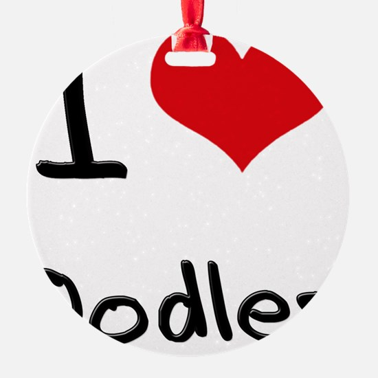 I Love Oodles Ornament