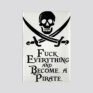 Become a pirate Rectangle Magnet