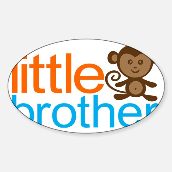 Monkey Little Brother Sticker (Oval)