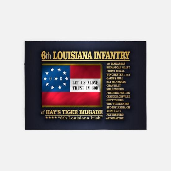 6th Louisiana Infantry (BH2) 5'x7'Area Rug