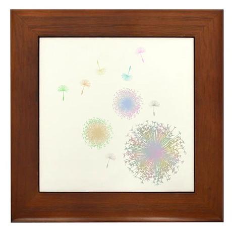 Dandelions Framed Tile