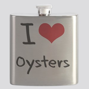 I Love Oysters Flask
