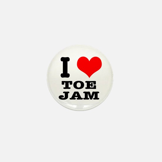 I Heart (Love) Toe Jam Mini Button