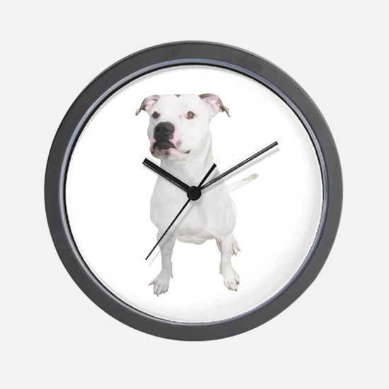 Cute Pit bull terrier Wall Clock