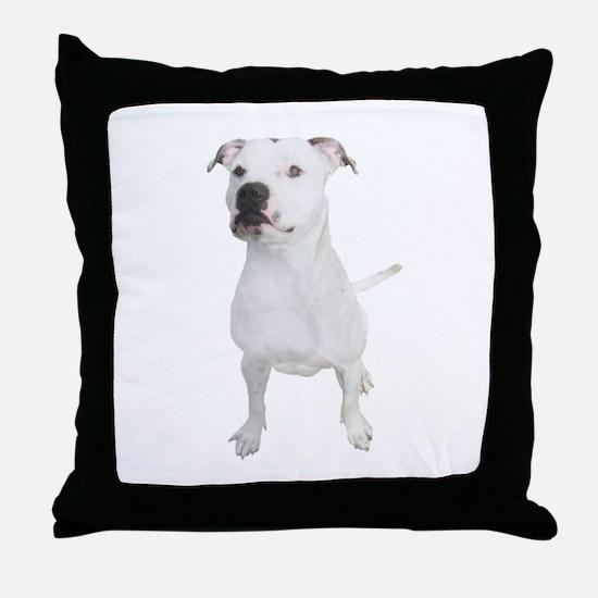 Cute Pit bull mom Throw Pillow