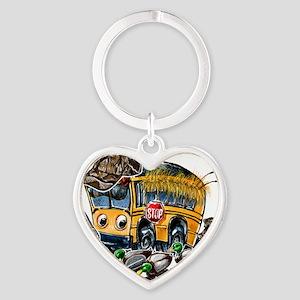 DUCK HUNTING schoolbus Heart Keychain