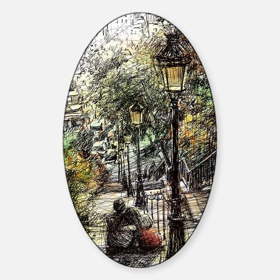 Montmartre 2 Sticker (Oval)