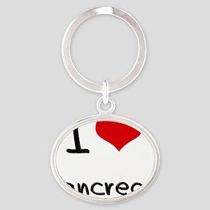 I Love Pancreas Oval Keychain